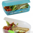 Multi Compartment Lunch Box Container 60.8 OZ (1.8 L) SET OF 2 BOXES - BPA FR...