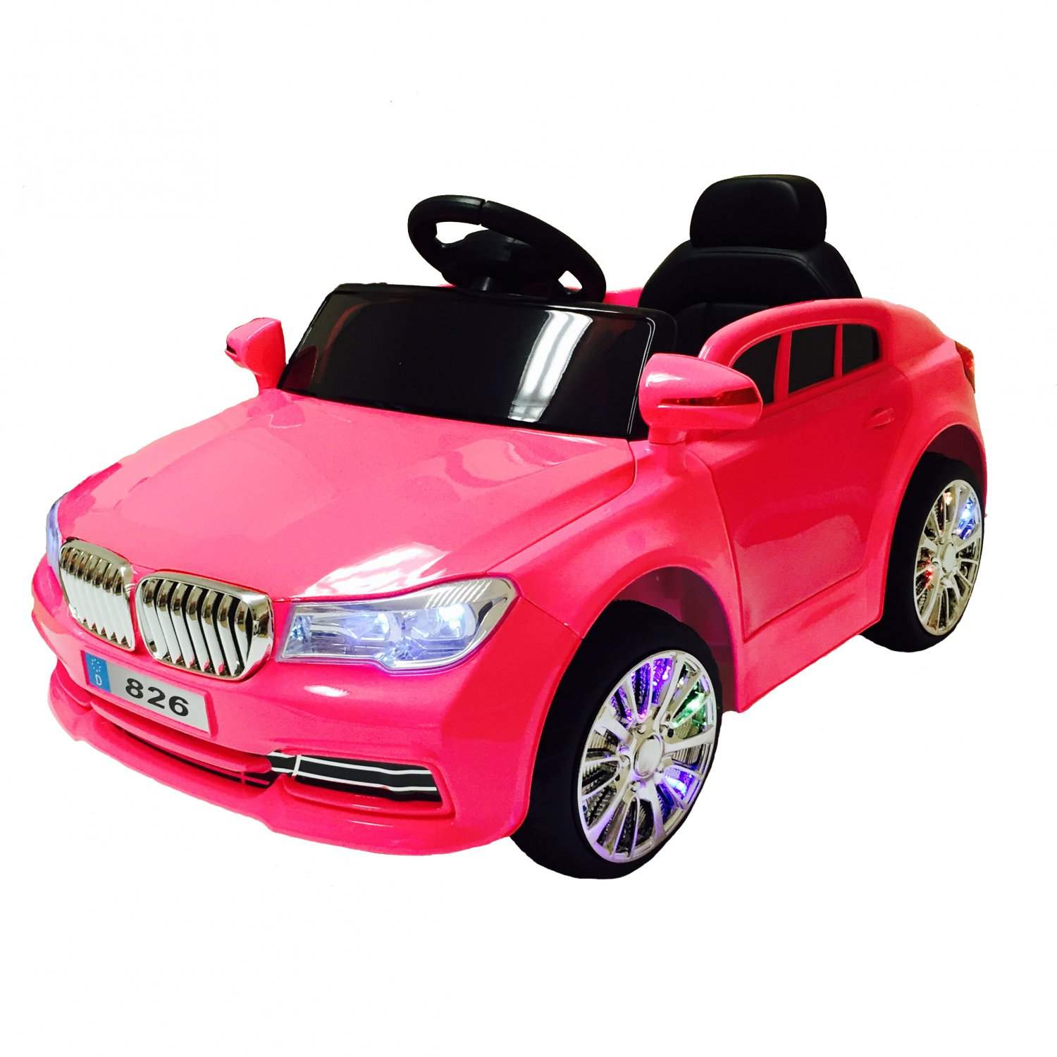 Electric Ride On Car For Kid With Remote Control   Pink