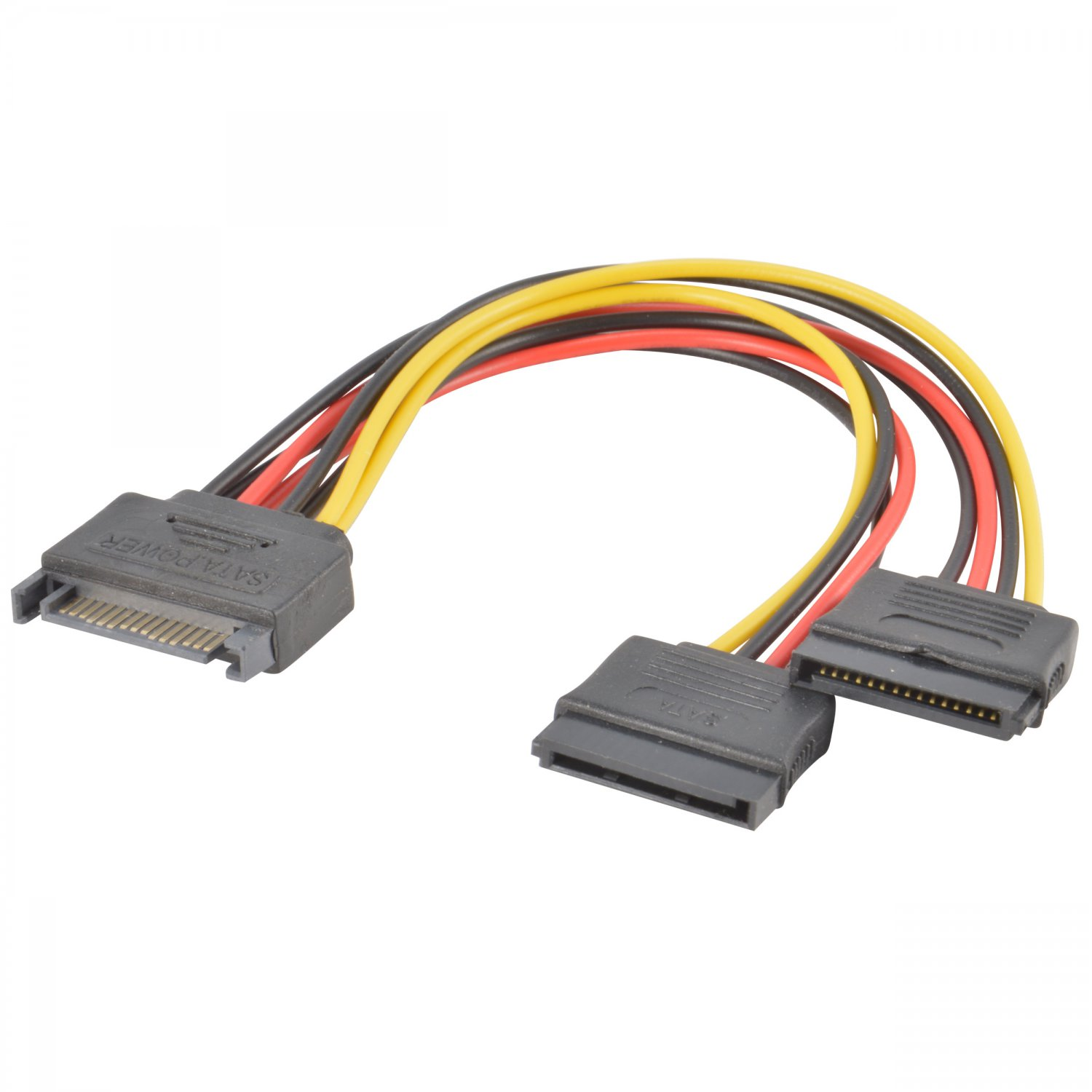 (5-Pack) SATA Power 15-pin Y-Splitter Cable Adapter 5X