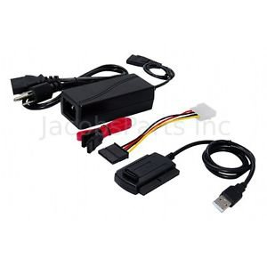 """USB 2.0 to SATA PATA IDE 2.5"""" 3.5"""" HDD SSD Hard Drive Adapter Transer Cable Kit"""