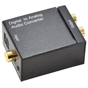 Digital Optical Coax Toslink Audio Signal to Analog SPDIF RCA Converter Adapter