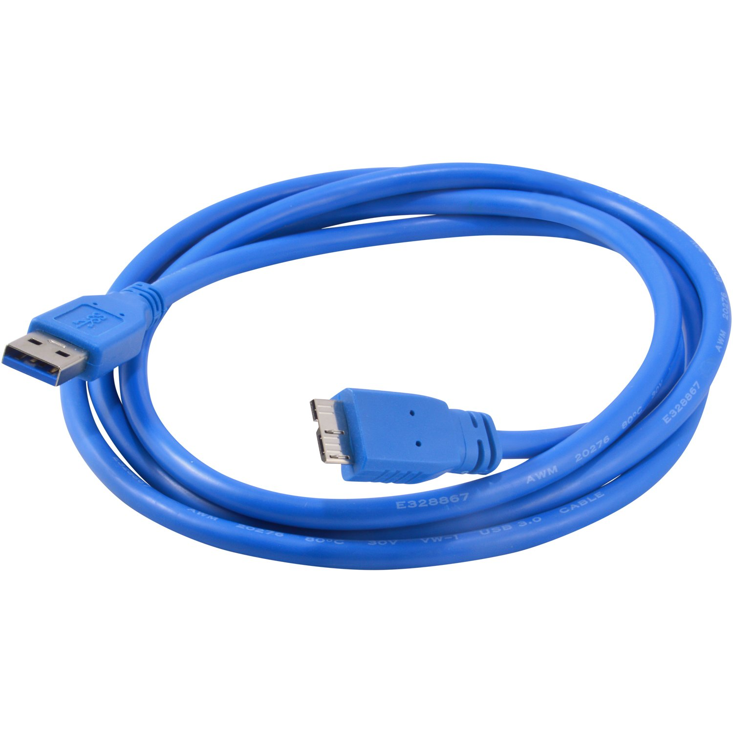 5X USB 3.0 A Male to Micro B Cable for External HDD / Tablet / Smartphone, Blue