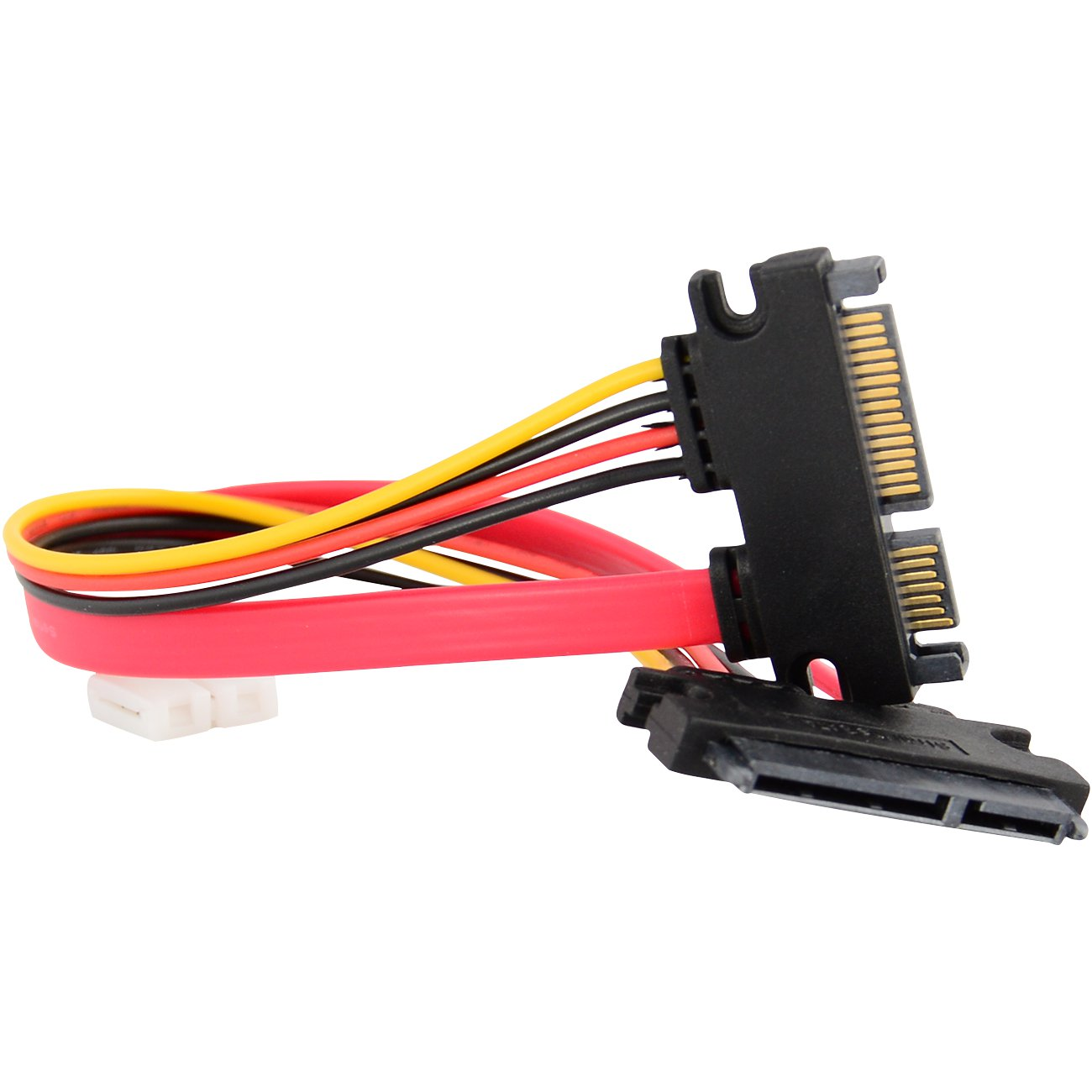 """15+7 Pin SATA HDD Extension Cable Data & Power Male to Female, 11"""" / 28cm"""