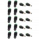 10 Pairs 20pcs Male & Female 5.5mm x 2.1mm DC Power Connector Jack Plug 12V 24V