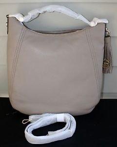 NWT~ Michael Kors Women's Frances XLarge Leather Shoulder Handbags $398~DK TAUPE