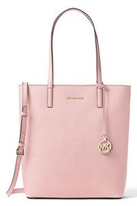 NWT~ Authentic Michael Kors Leather Hayley Large Convertible N/S  Tote ~Blossom