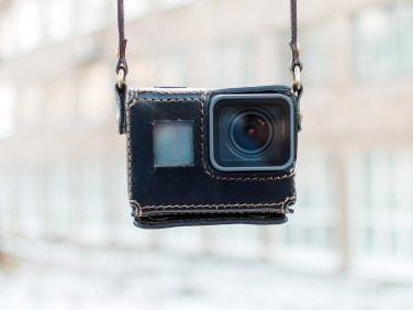 GoPro Hero 5 Black handmade black leather case