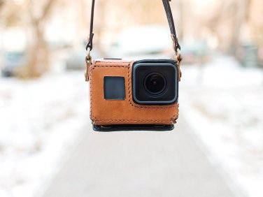 GoPro Hero 5 Black handmade brown leather case