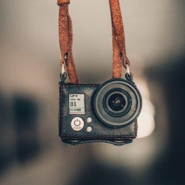 GoPro Hero 3/3+ handmade black leather case