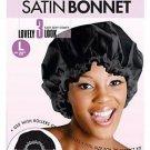 Magic Collection Breathable Satin Bonnet Elastic Band-2078BLA