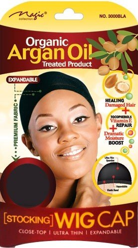 Magic Collection Organic Argan OIl Treated Stocking Wig Cap-3000BLA