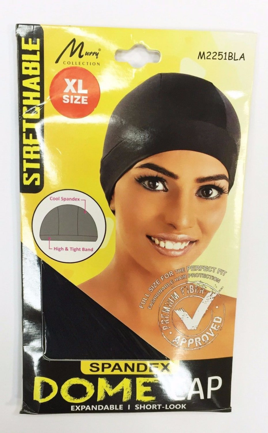 Murry Collection Stretchable Spandex Dome Cap-M2251BLA