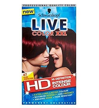 Schwarzkopf Live Intense Colour HD 47 Plum Perfection