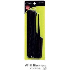 Magic Collection Professional Comb Set- 4pc 1111 black