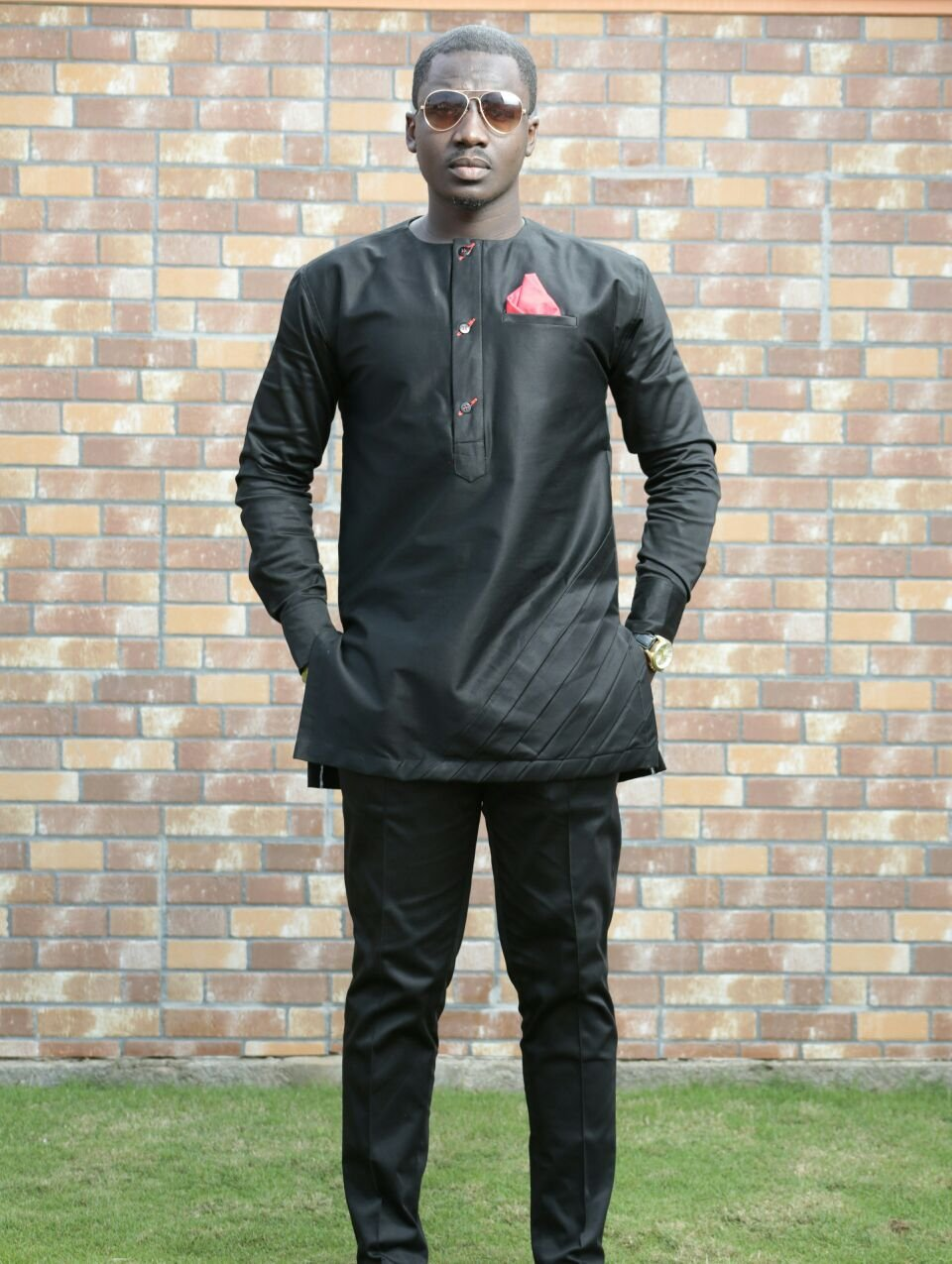 Black-Out Men's African Clothing African Wear Pants & Shirt
