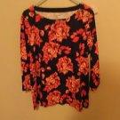 Croft and Barrow 100% Cotton Shirt, 3/4 Sleeve Size XL