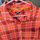 Talbots 100% Cotton Button Down Rolled Sleeve Shirt, Size 1X