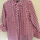 Talbots Button Down Blouse, Rolled Sleeve, 100% Cotton Size 0X