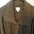 St Johns Bay Button Down Sweater, Size XLT