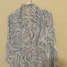 JM Collection Button Down Blouse, 3/4 Sleeve, Size 16