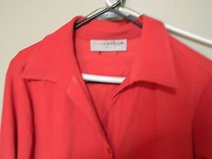 Sag Harbor Woman Button Down Shirt, Faux Suede Feel, Size 1x