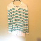 Talbots 100% Rayon Pullover Hooded Tunic, Size x