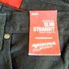 Mens Arizona Jeans Co. Slim Fit/Straight Black Jeans 32x34