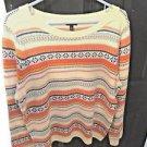Talbots Long Sleeve Fair Isle Pattern Sweater, Nylon/Lanbswool, Size XL