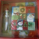Cypress Holiday Serving Board with Spreader and Napkins
