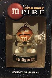 "The Star Wars mPire Luke Skywalker M&M Holiday Ornament 3"""