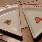 I Love Pizza Plate by Tabletops Gallery 2 pieces pre owned