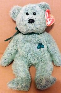 TY Beanie Baby Shamrock used with tag 8in