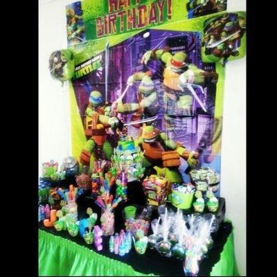 Feb 11, Ninja Turtle Candy buffet face painting,