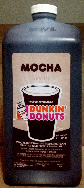 Dunkin Donuts Mocha Swirl No Pump