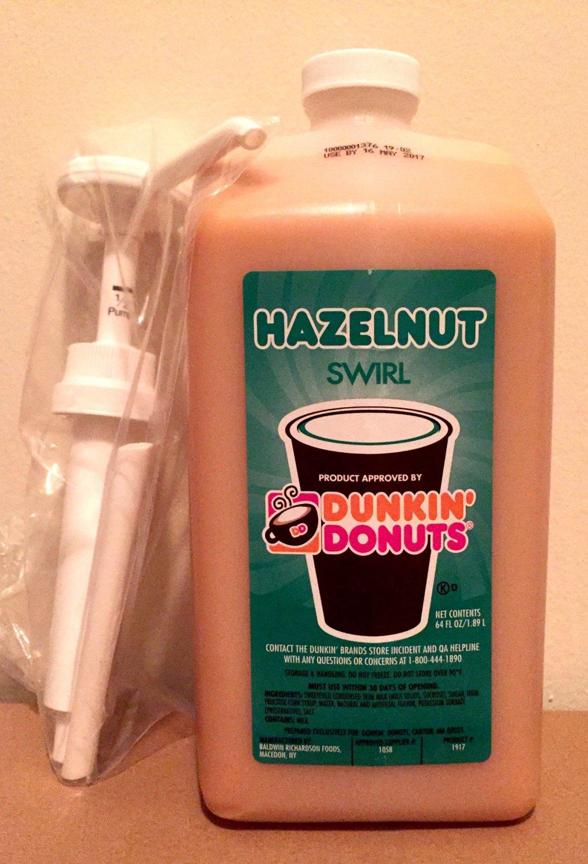 Dunkin Donuts Hazelnut Swirl With Pump