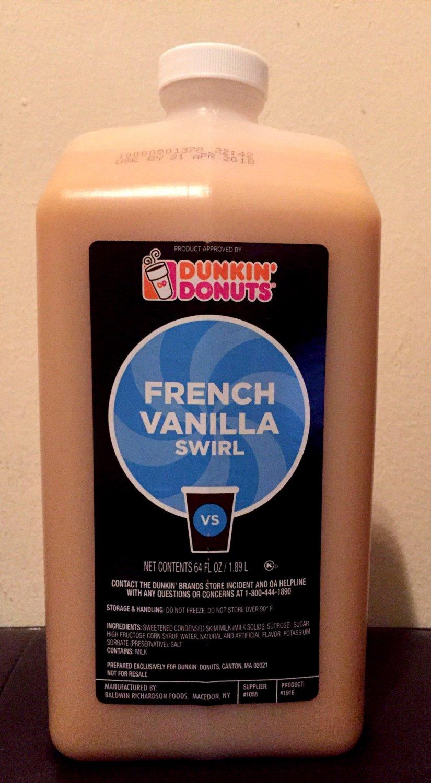 Dunkin Donuts French Vanilla Swirl No Pump