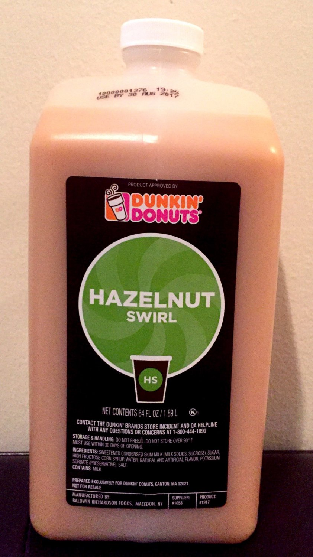 Dunkin Donuts Hazelnut Swirl No Pump