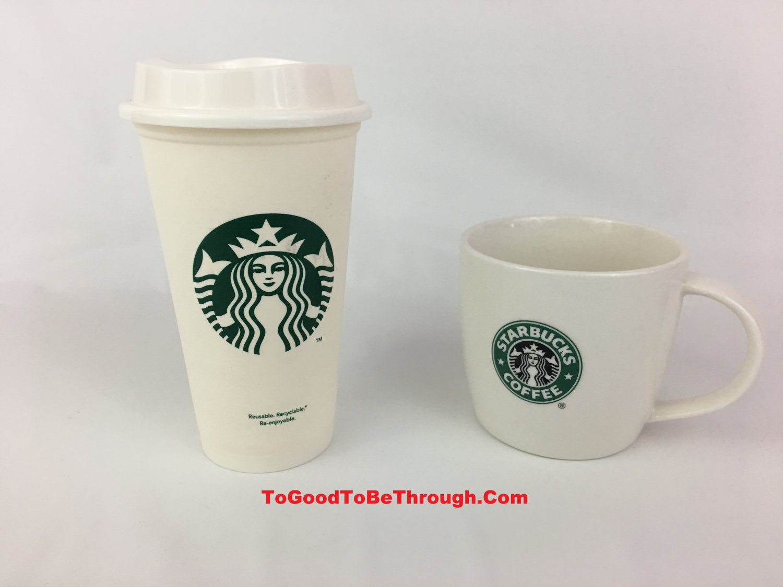 Starbucks 16fl oz Plastic Tumbler & 12fl oz Coffee Mug