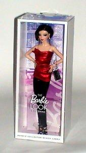 Barbie The Look City Shine Asian Red Blouse Black Slacks Mattel Black Label