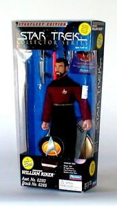 "Star Trek Collector Series 10"" William Riker Doll from Playmates"