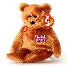 """TY Beanie Baby Britannia Bear 9"""""""
