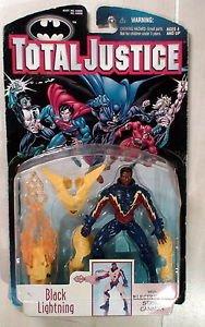 1997 Total Justice Black Lightning Kenner action Figure