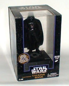 Star Wars Darth Vader Talking Bank with Light Saber 1996