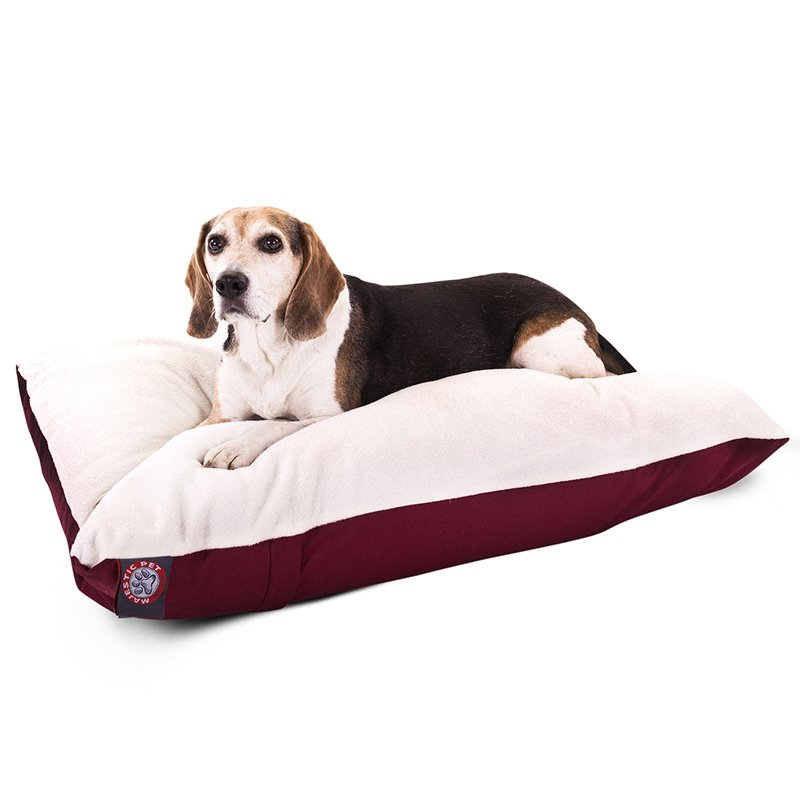 Majestic Pet Products 30x40 Burgundy Rectangle Dog Bed-Medium