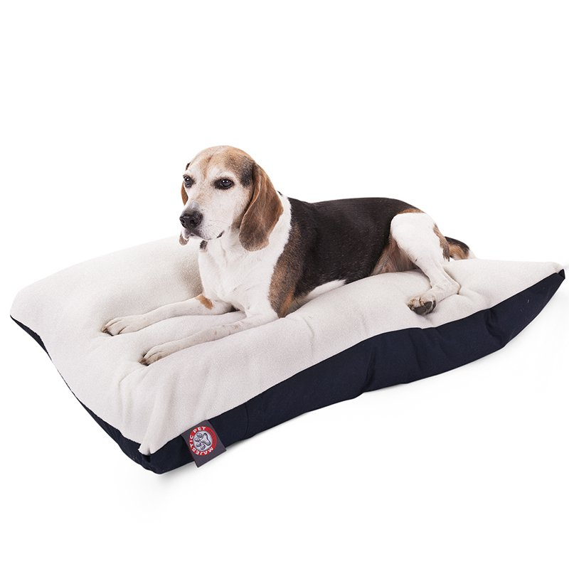 Majestic Pet Products 30x40 Blue Rectangle Dog Bed-Medium
