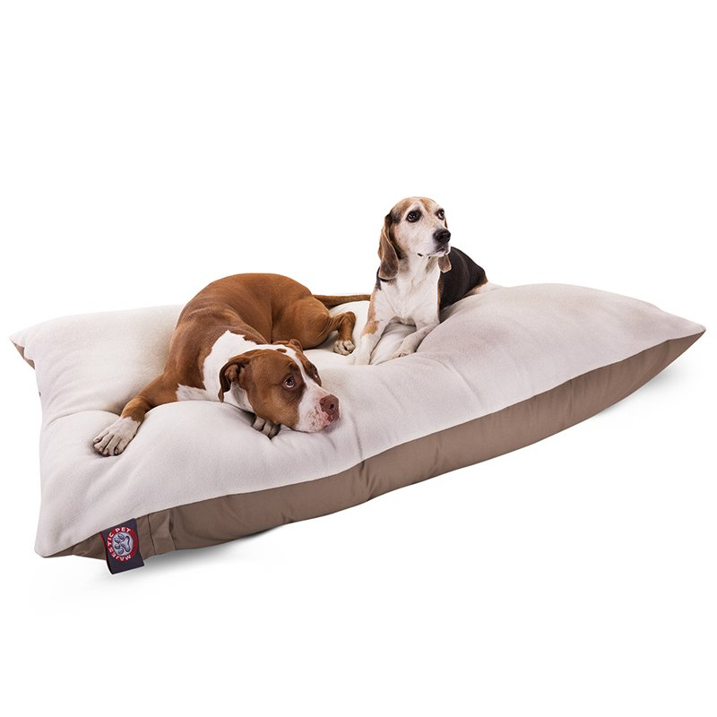 Majestic Pet Products 30x40 Khaki Rectangle Dog Bed-Medium