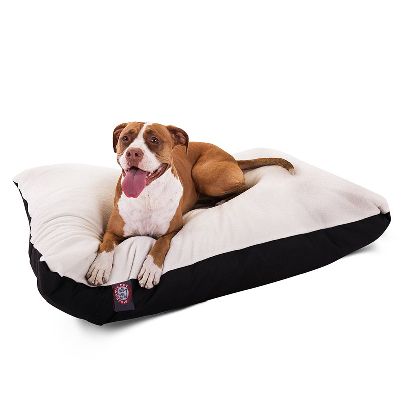 Majestic Pet Products 36x48 Black Rectangle Dog Bed- Large