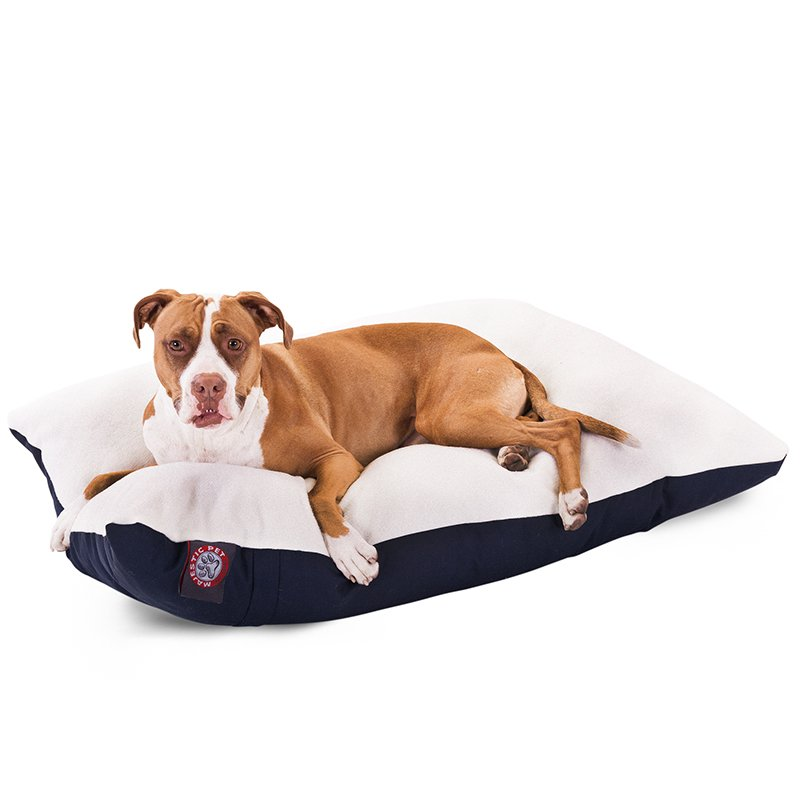 Majestic Pet Products 36x48 Blue Rectangle Dog Bed- Large