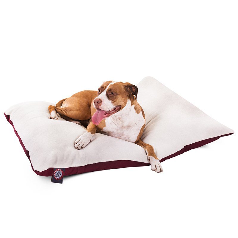 Majestic Pet Products 36x48 Burgundy Rectangle Dog Bed- Large