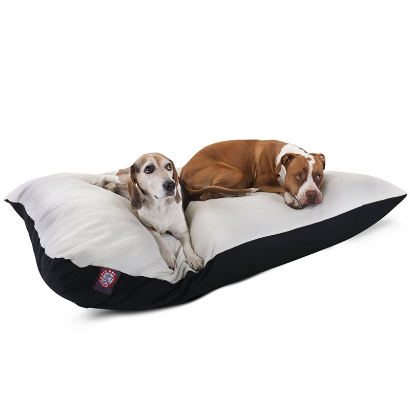 Majestic Pet Products 42x60 Black Rectangle Dog Bed-Extra Large